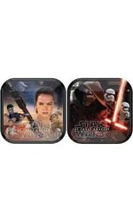"Star Wars Episode VII 7"" Square Plate Party Supplies - 8 Count"