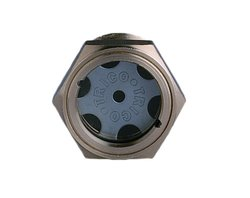 "Trico 1"" NPT Male 50 psi Pressure Zinc Plated Steel 3-D Viewport w/ Lens"