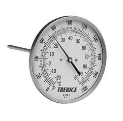 "Trerice B8320404 1/2"" NPT 0-200_F & C Rear Connect Bimetal Thermometer"