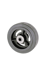 "RWM Casters RIR-1230-12 12"" x 3"" Mold-On Rubber Wheel with Roller Bearing"