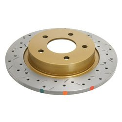 DBA DBA42957XS 4000 Series XS Premium Cross-Drilled and Slotted Rear Solid Disc Brake Rotor