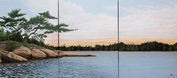 Art Wall 3-Piece Winded Pines by Ken Kirsch Gallery Wrapped Canvas Art, 24 by 32-Inch