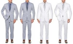 Adolfo Linen Suits 2-piece - White/38sx32w