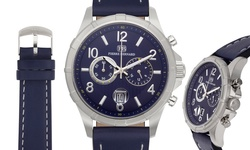 Pierre Bernard and Paul Perret Men's Chronograph Watches Navy/Blue