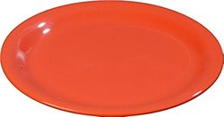 "Carlisle 3300652 Sierrus Narrow Rim Melamine Salad Plates, 7.25"", Sunset Orange (Pack of 48)"