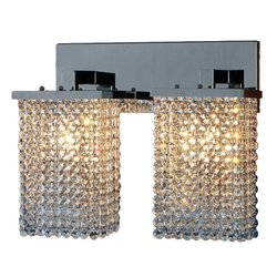 Prism Collection 2-Light Chrome Sconce
