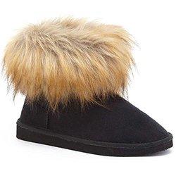 Serene Jenna Fur Boots: Black/7.5