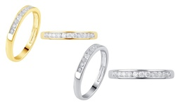 1/4 Cttw Round Diamond Channel Band: 10k Yellow Gold / 6