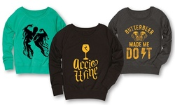 Ladies Wizards And Magic Slouchy Pullovers: Nine And Three Quarters/2x