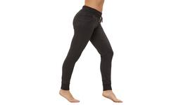 Bally Total Fitness Women's Cuffed Fleece Pants - Black - Size: XL