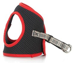 Luca for Dogs Step-In Style Harness - Red Burberry - Size: Extra Small
