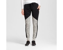 Mossimo Women's Color Block Jogger Pants - Black/Gray - Size: Large
