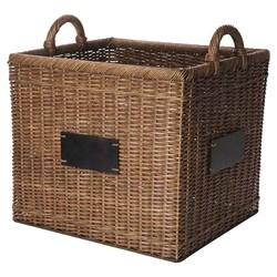 Metro Decorative Basket Wicker with Chalkboard - Brown