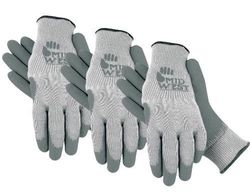 Midwest Knit Glove with Textured Rubber Palm - Grey/White - Size: X-Large