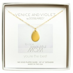 """Women's 14K 18""""+2"""" Ext. Venice and Violet Petal Plated Necklace - Gold"""