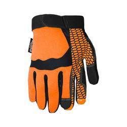 Midwest Quality Unisex Gardening Thinsulate Insulation Gloves - Orange- XL
