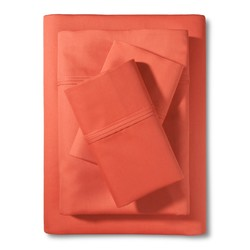 Threshold CK Performance Bed Sheet Set - Coral - Size: Cal King