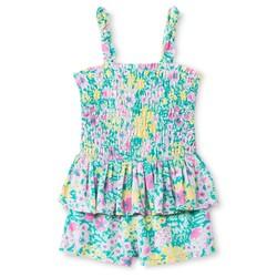 Oshkosh Baby Girls' Floral Peplum Romper - Green - Size: 18 Month