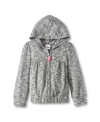 Circo Girls' Heathered Zip-up Hoodie - Gray - Size: 4T