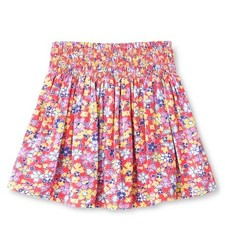 Oshkosh Toddler Girls' Floral Mini Skirt - Coral - Size: 2T