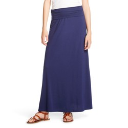 Mossimo Women's Maxi Skirts - Oxford Blue - Size: S