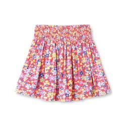 Oshkosh Toddler Girls' Floral Mini Skirt - Coral - Size: 5T