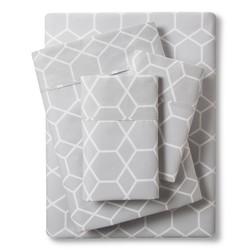 Threshold Organic Sheet Set - Silver - Size: California King