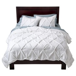 Threshold 2-Pc Pinched Pleat Comforter Set - White - Size: Twin Extra Long