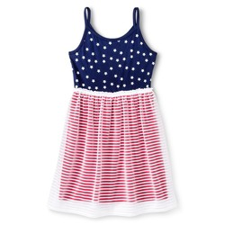 Circo Girls Americana Navy Stars Dress - Nightfall Blue - Size: M (7-8)