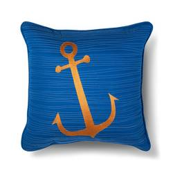 "Sabrina Soto 16""x16"" Parker Anchor Throw Pillow - Multi"