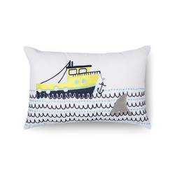 "Sabrina Soto 18""x12"" Charlie Boat Throw Pillow - Multi"