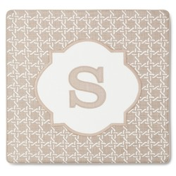 "Threshold Monogram ""S"" Pillow Cover - Brown - Size: 18"" x 18"""