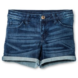 Cherokee Girls' Low Rise Jeans Shorts - Dark Blue - Size: XS