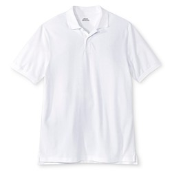 Cherokee Young Men's Pique Polo T-Shirt - White - Size: Large
