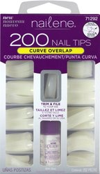Nailene Curve Overlap Nail Tips Kit - 200 Count