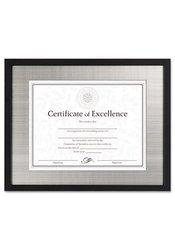 "DAX Document/Certificate Frame - Silver Metal - 11 x 14"" - Black - 4Pack"