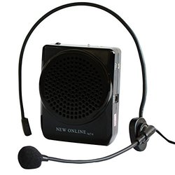 ETvalley Voice Amplifier Rechargeable, with Waist Band & Belt Clip, a Handfree Headset with Microphone, Color Black