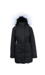 Galaxy Spire Women's Heavyweight Puffer or Parka Jacket - Black - Size: XL