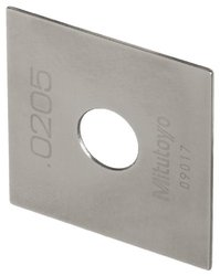 Mitutoyo Steel Square Gage Block, ASME Grade AS-1, 6.0 mm Length
