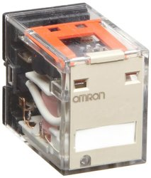 Omron MY2N-CR AC110/120 (S) General Purpose Relay, Standard Coil Polarity, LED Indicator, Built-In CR Type, Plug-In Socket/Solder Terminals, Double Pole Double Throw Contacts, 9.9 to 10.8 mA at 50 Hz and 8.49 to 9.2 mA at 60 Hz Rated Load Current, 110 to