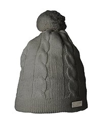 SUPERYELLOW Wool Cable Knit Bobble Beanie - Gray