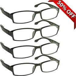 TruVision Best for Men & Women Reading Glasses 1.00 - Pack of 4