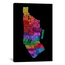 "iCanvasART Map by Michael Tompsett Canvas Art Print - Size: 26""x18"""