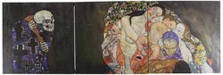 "iCanvasART Death & Life by Gustav Klimt 3 Pc Canvas Art Print-Size:36""x12"""
