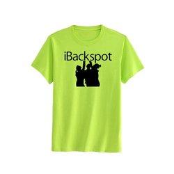Chosen Bows Boy's iBack Spot T-Shirt - Black Print - Neon Yellow - Size: L