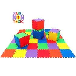 Play Platoon 36 Piece Children's Play & Exercise Mat - Multi