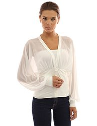 Patty Boutik Women's Fitted Waist Pullover Blouse - Ivory - Size: XL