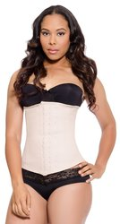 LMB Fashion Waist Trainer Corset - Three Rows of Hooks - Nude - Size: L