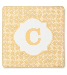 "Threshold Monogram ""C"" Pillow Cover - Yellow - Size: 18"" x 18"""