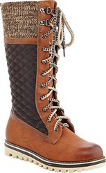 """Women's CHARLIE Triple Textured Tall Laceup Boot - Camel - Sz"""" 11"""